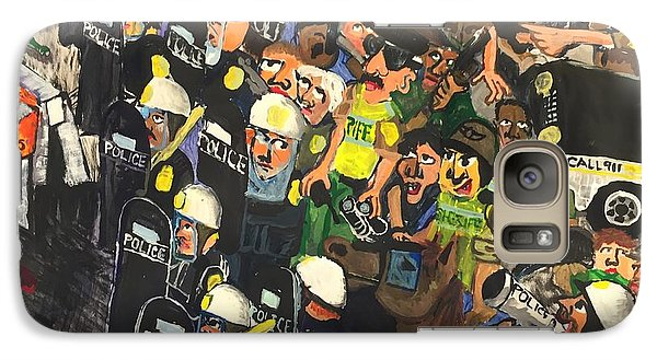 Galaxy Case featuring the painting The Response  by Jame Hayes