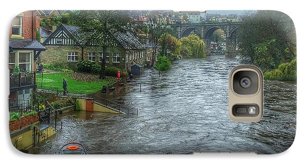 Galaxy Case featuring the photograph The River Nidd In Flood At Knaresborough by RKAB Works