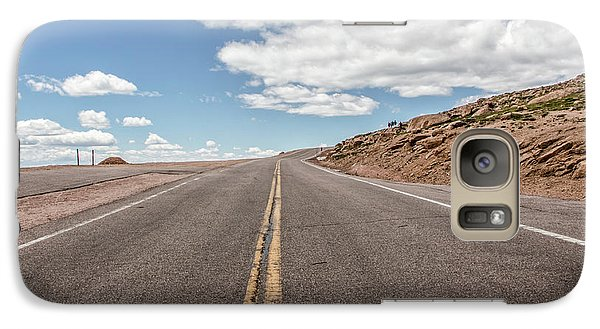 Galaxy Case featuring the photograph The Road Up Pikes Peak At Around 12,000 Feet by Peter Ciro