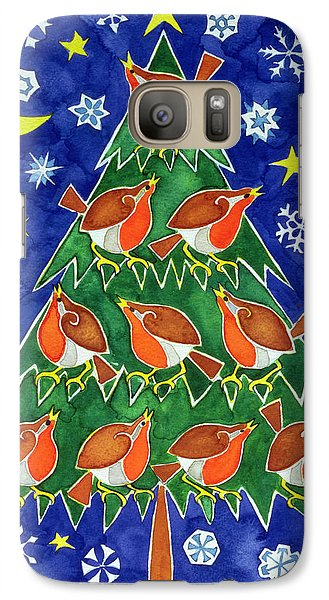 The Robins Chorus Galaxy Case by Cathy Baxter