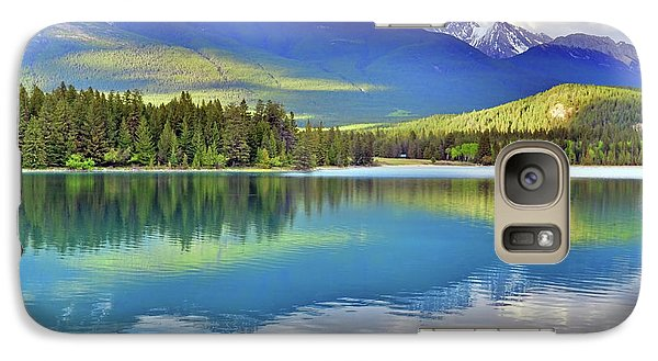 Galaxy Case featuring the photograph The Rockies Reflected In Lake Annette by Tara Turner