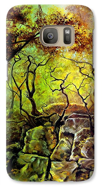 Galaxy Case featuring the painting The Rocks In Starachowice by Henryk Gorecki