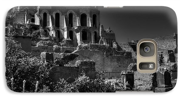 Galaxy Case featuring the photograph The Roman Forum 001 Bw by Lance Vaughn