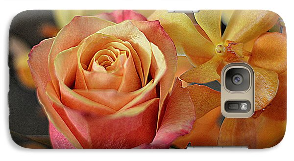 Galaxy Case featuring the photograph The Rose And The Orchid by Diana Mary Sharpton