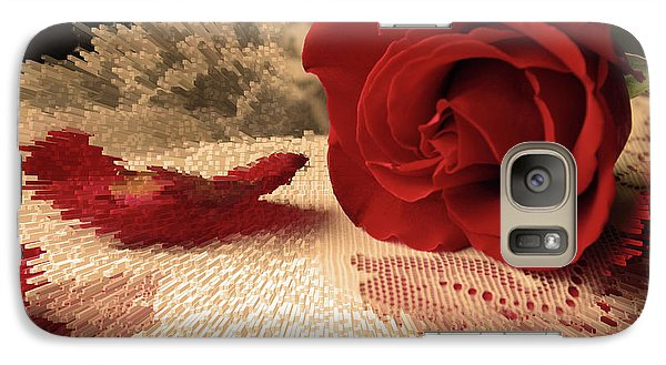 Galaxy Case featuring the photograph The Rose by Bonnie Willis