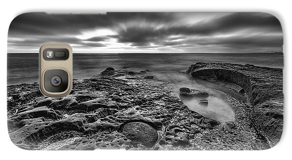 The Rugged California Coast - Black And White Galaxy S7 Case