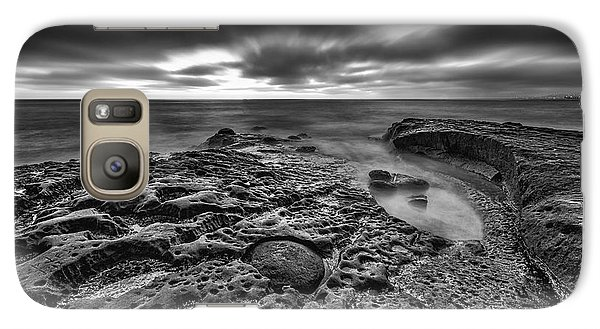 Galaxy Case featuring the photograph The Rugged California Coast - Black And White by Photography  By Sai