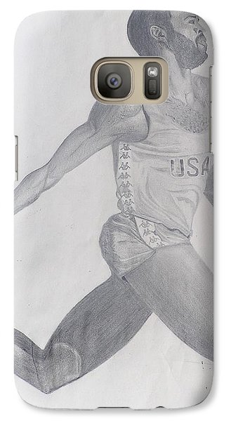Galaxy Case featuring the drawing The Runner by Wil Golden