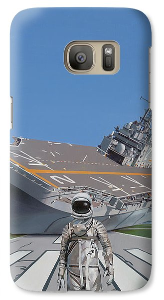 Galaxy Case featuring the painting The Runway by Scott Listfield