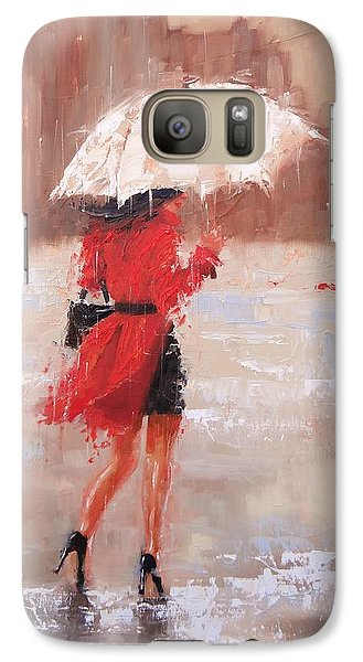 Galaxy Case featuring the painting The Rush by Laura Lee Zanghetti