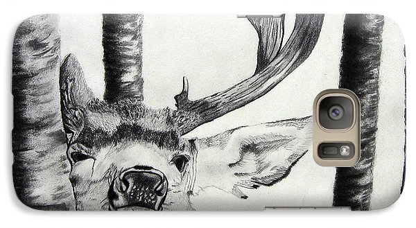Galaxy Case featuring the drawing The Rutt by Mayhem Mediums