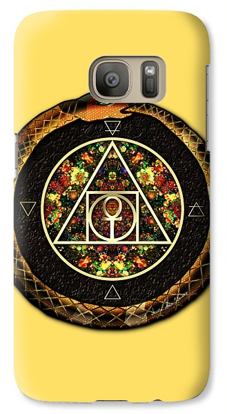 Galaxy Case featuring the digital art The Sacred Alchemy Of Life by Iowan Stone-Flowers
