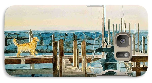 Galaxy Case featuring the painting The Sailmate by LeAnne Sowa