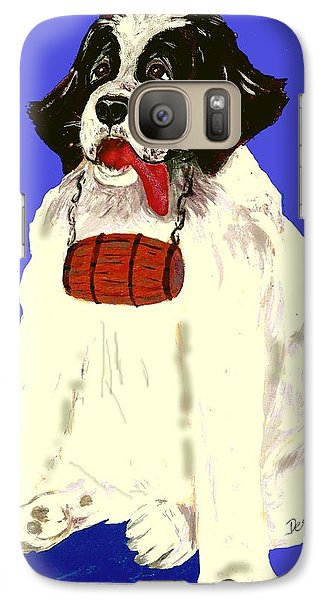 Galaxy Case featuring the painting The Saint by Desline Vitto