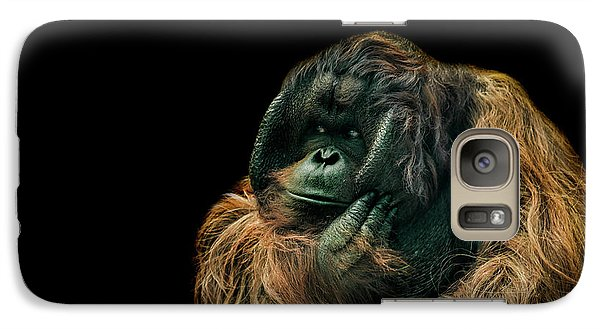 Orangutan Galaxy S7 Case - The Sceptic by Paul Neville