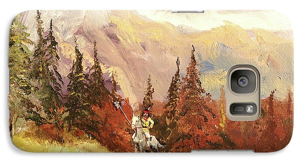 Galaxy Case featuring the painting The Scout by Alan Lakin