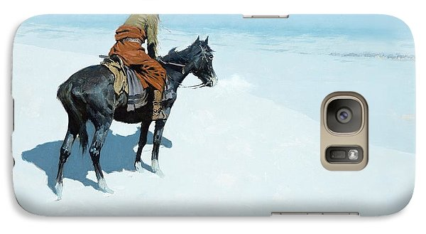 Horse Galaxy S7 Case - The Scout Friends Or Foes by Frederic Remington