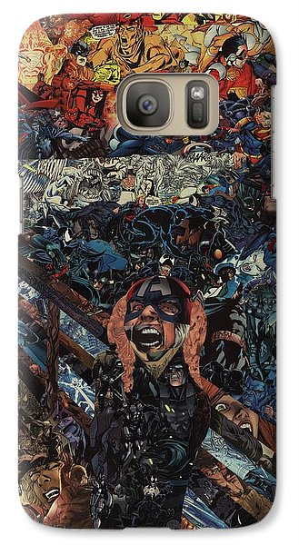 Galaxy Case featuring the mixed media The Scream After Edvard Munch by Joshua Redman
