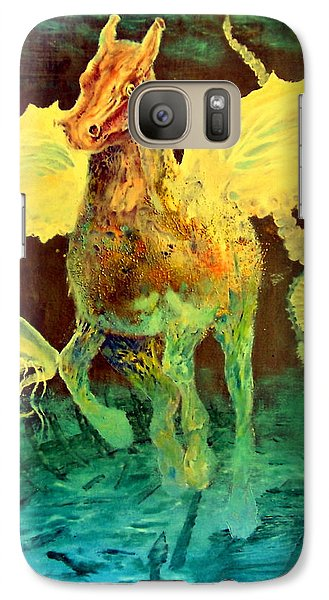 Galaxy Case featuring the painting The Seahorse by Henryk Gorecki
