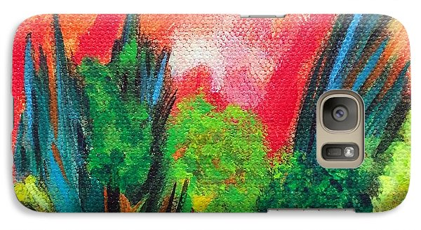 Galaxy Case featuring the painting The Secret Stream by Elizabeth Fontaine-Barr