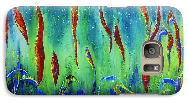 Galaxy Case featuring the painting The Secret World Of Water And Fire by AmaS Art