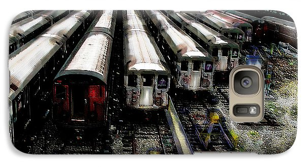 Galaxy Case featuring the photograph The Seven Train Yard Queens Ny by Iowan Stone-Flowers