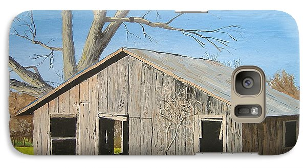 Galaxy Case featuring the painting The Shack by Norm Starks