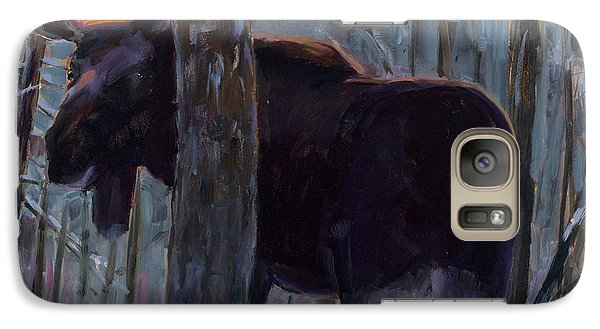 Galaxy Case featuring the painting The Shy One by Billie Colson