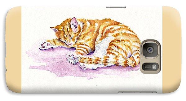 Cat Galaxy S7 Case - The Sleepy Kitten by Debra Hall