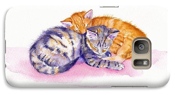 Cat Galaxy S7 Case - The Sleepy Kittens by Debra Hall