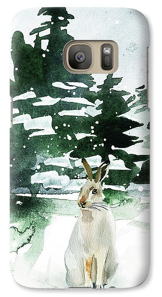 Galaxy Case featuring the painting The Snow Bunny by Colleen Taylor