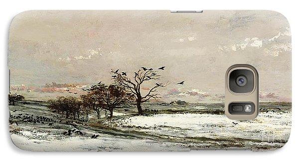 Rural Scenes Galaxy S7 Case - The Snow by Charles Francois Daubigny