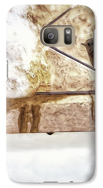 Galaxy Case featuring the photograph The Snow Melts by Pennie  McCracken
