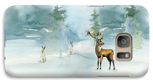 Galaxy Case featuring the digital art The Soft Arrival Of Winter by Colleen Taylor