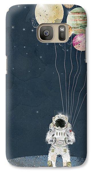 Astronaut Galaxy S7 Case - The Solar Collector by Bri Buckley
