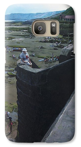 Galaxy Case featuring the painting The South Bay In Scarborough. by Harry Robertson