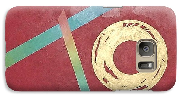 Galaxy Case featuring the painting The Square Wheels Of Progress by Bernard Goodman