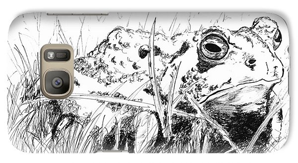 Galaxy Case featuring the drawing The Stalwart Old Toad by Andrew Gillette