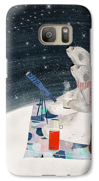 Galaxy Case featuring the painting The Stargazers by Bri B
