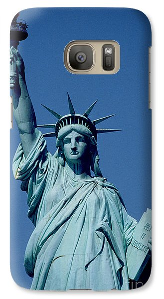 New York City Galaxy S7 Case - The Statue Of Liberty by American School