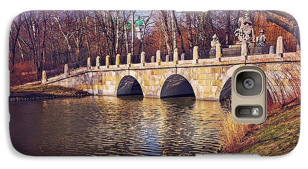 Galaxy Case featuring the photograph The Stone Bridge In Lazienki Park Warsaw  by Carol Japp