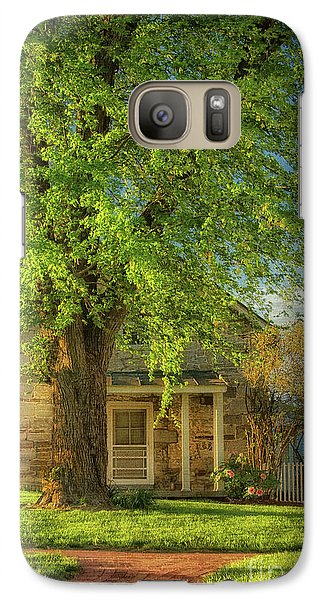 Galaxy Case featuring the photograph The Stone Cottage On A Spring Evening by Lois Bryan