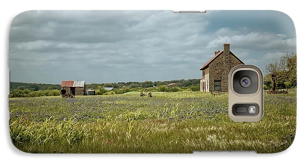 Galaxy Case featuring the photograph The Stone House by Linda Unger