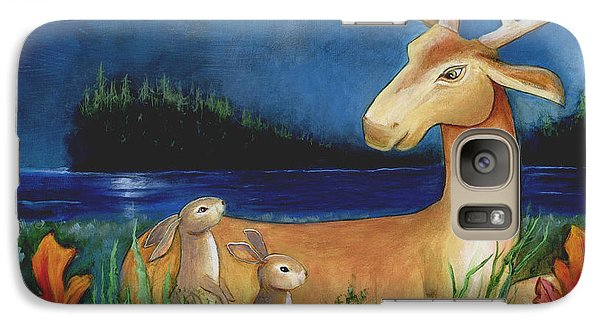 Galaxy Case featuring the painting The Story Keeper by Terry Webb Harshman