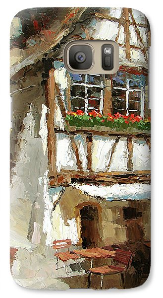 Galaxy Case featuring the painting The Streets Of Strasbourg by Dmitry Spiros