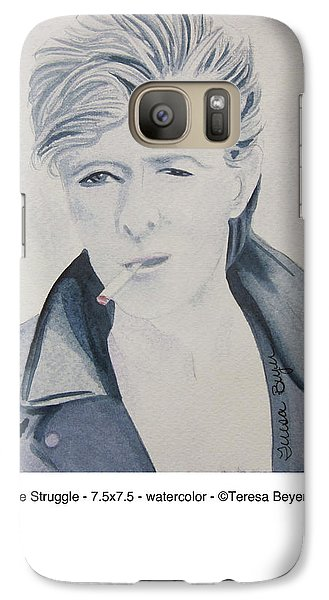 Galaxy Case featuring the painting The Struggle by Teresa Beyer