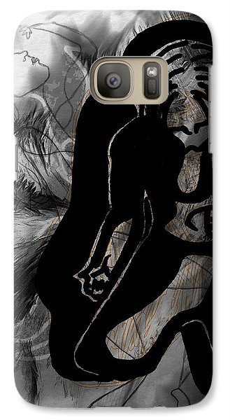 Galaxy Case featuring the drawing The Struggle Within by Sheila Mcdonald
