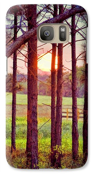 Galaxy Case featuring the photograph The Sun Pines Away by Jan Amiss Photography