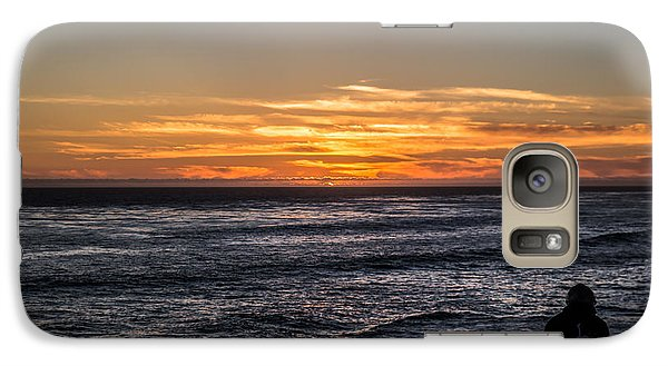 Galaxy Case featuring the photograph The Sun Says Goodbye by Lora Lee Chapman