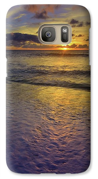 Galaxy Case featuring the photograph The Sun Sets Softly In Molokai by Tara Turner